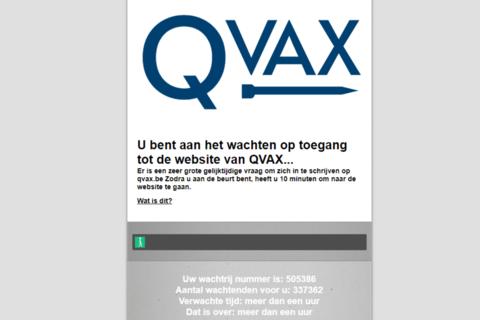 """Afbeelding voor fragment: Lange wachtrijen voor Qvax blijken makkelijk te omzeilen """"iedereen kan het"""""""
