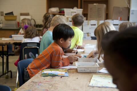 Afbeelding voor fragment: Studenten uit lerarenopleidingen helpen leerkrachten in basisonderwijs