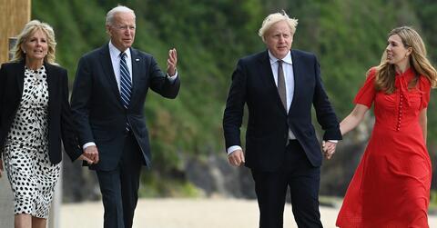Afbeelding voor fragment: G7-bijeenkomst in Cornwall: 1e ontmoeting tussen Biden en Johnson met meteen olifant in de kamer