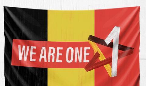 """Afbeelding voor fragment: Verwarring over campagne van PVDA """"We are One"""": """"Gaat over eenheidsgedachte, niet de Rode Duivels"""""""